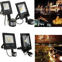 10W 20W 30W 50W PIR Motion Sensor LED Flood Light Floodlight Security Lamp IP65