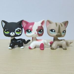 5pcs Littlest Pet Shop Cats LPS #1451 #1962 #2291 #2249 # #1170 Short Hair