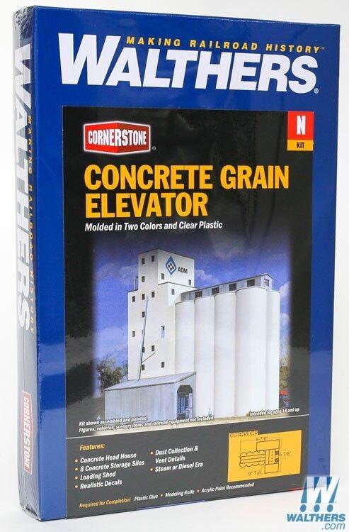 N Walthers Cornerstone kit 933-3225 * Concrete Grain Elevator