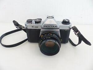 Pentax k1000 Spiegelreflexkamera Analog Kamera + SMC A 1:2 50mm Objektiv #3