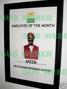 coming to america movie prop akeem empoyee poster ebay