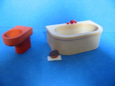 Di Carattere Dolce N. 133 Bodo Hennig Vasca Da Bagno + Wc 1:12 Casa Delle Bambole Bambole Tube Bambole Mobili Del Tubetto-bel It-it Mostra Il Titolo Originale