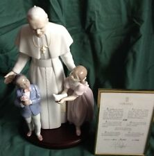 POPE JOHN PAUL II LLADRO RETIRED LIMITED ED BEAUTY PORCELAIN 1825 GLAZED SIGNED