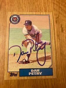 Tigers Dan Petry signed 1987 Topps Card