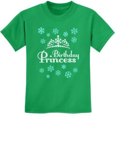 Birthday Princess Little Girls Gift Idea Adorable Youth Kids T-Shirt Frozen