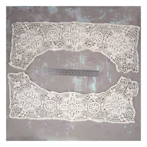 2-x-CREAM-LACE-SEW-ON-COLLARS-400mm-x-140mm-EMBELLISHMENT-APPLIQUES-DRESS-H5085