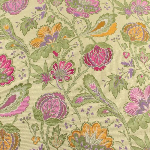 Flor Floreciente Poliéster Brocade Fabric Floral Jacquard prendas por yarda