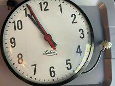 Ss12rfa Flush Mount Steel Case Clock American Time Dukane Lathem
