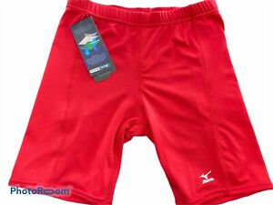 Mizuno-Womens-Softball-Red-Spandex-Compression-Shorts-Size-Small