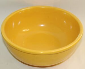 Fiesta-Original-Yellow-Unlisted-Promotional-Salad-Bowl-Vintage-Fiestaware-9-5-034