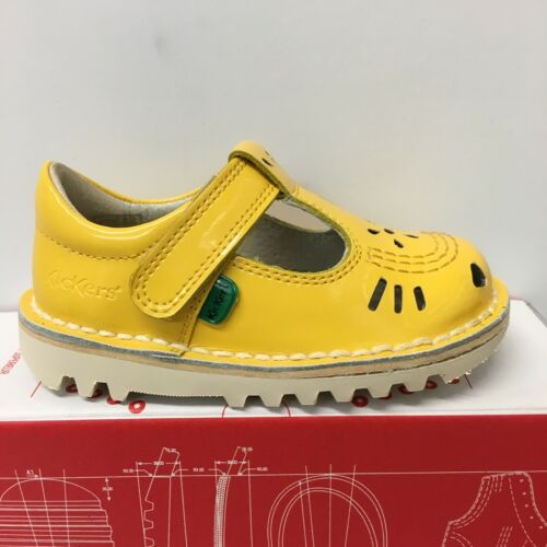 New Season 1-15441 Kickers T-Vel Patent Shoes In Yellow