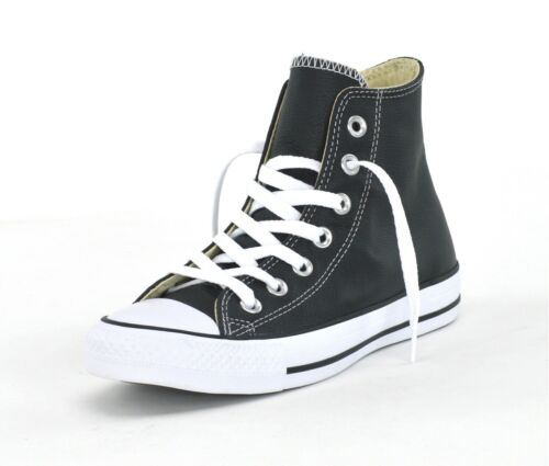 neuves Baskets Ct Leather unisexes noires Hi 132170c blanches As Converse SIqzwxA1S