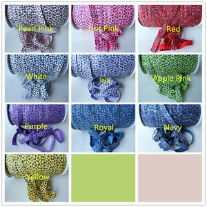 2m-of-Soft-Fold-Over-Elastic-15mm-LEOPARD-PRINT-Headband-Tutu-Trim-Clothing-FOE