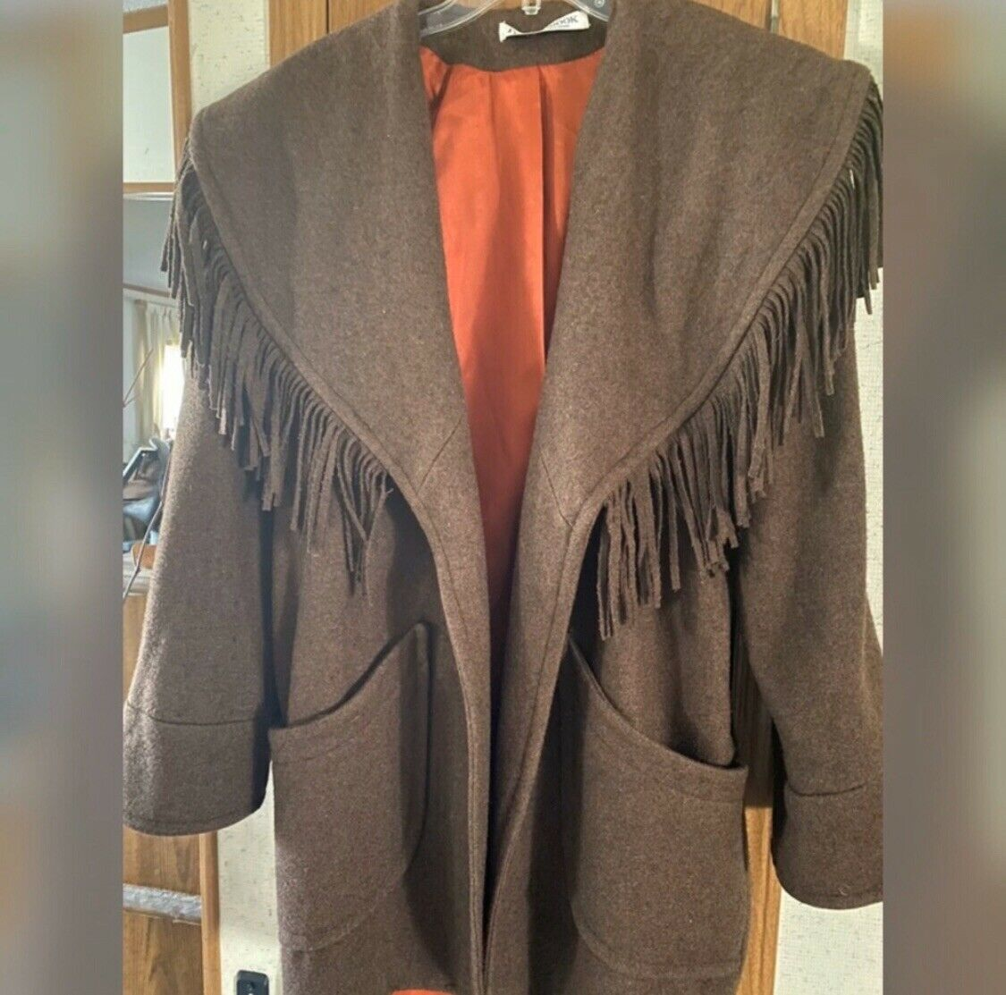 Donnybrook Wool with Leather Fringe Brown Coat Re… - image 8