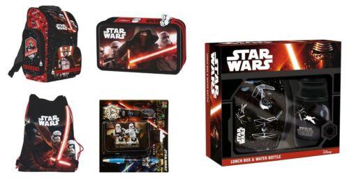 Star Wars SET 8teile STAR WARS SCHULRANZEN TURNBEUTEL Federmappe BROTDOSE Wasse