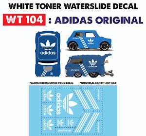 Wt104 White Toner Waterslide Decals Adldas For Custom 1 64 Hot Wheels Ebay