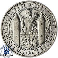 Repubblica di Weimar 3 Reichsmark 1928 (stgl) ARGENTO moneta da 1000 anni Dinkelsbühl