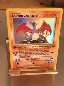Holo-Shining-Charizard-Custom-Pokemon-Card-Nice-Artwork-perfect-Condition