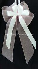 10 Antennenschleifen Autoschleifen Antennenschleife Hochzeit Schleifen weiß rosa