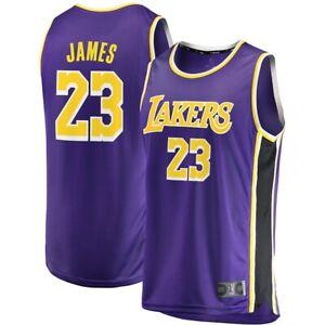 Lebron James Los Angeles LA Lakers #23 Basketball Jersey Stitched Purple S-2XL