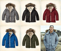 Hollister By Abercrombie&fitch Men's Coastal Trail Parka Sherpa Fur Lined