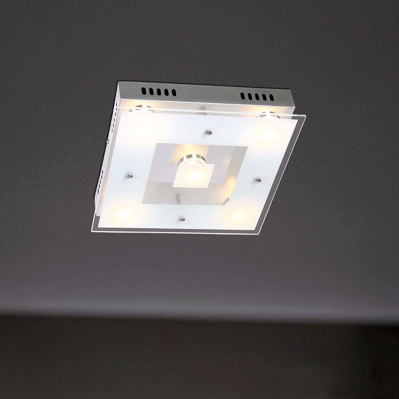 Wofi LED Lampada da da da soffitto Sphinx 5-flg CROMO VETRO RETTANGOLARE 30 cm 25 W 2100 lumen NUOVO 838e0e