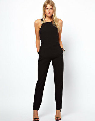 2015 Summer Women Celebrity Cocktail Evening Overall Jumpsuit Romper Long Pants