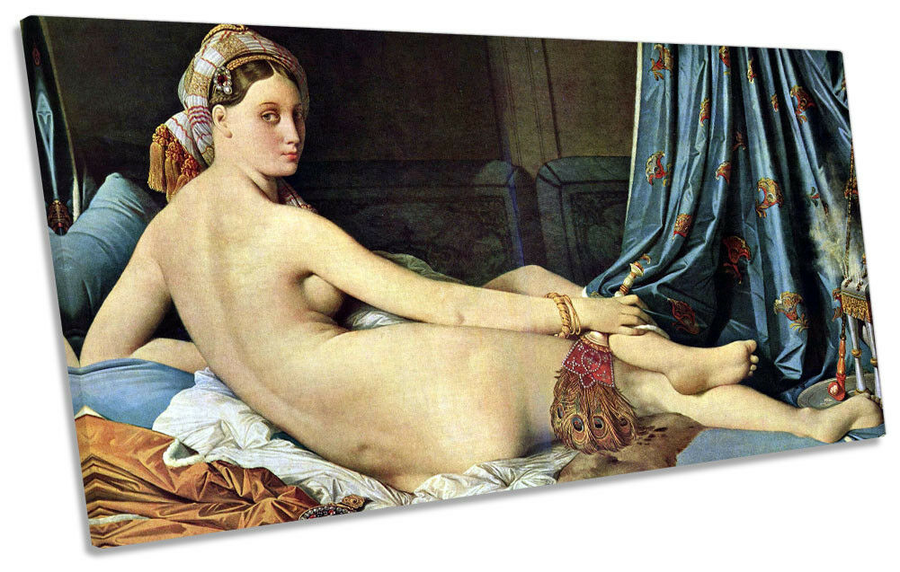 J.A.D Ingres Grande Odalisque Picture PANORAMIC CANVAS WALL ART Print