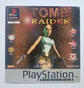 * Incrustation Avant Seulement * Tomb Raider Inlay Ps1 Psone Playstation 1 Ps One-afficher Le Titre D'origine 1bi9j1ti-07160117-318548240