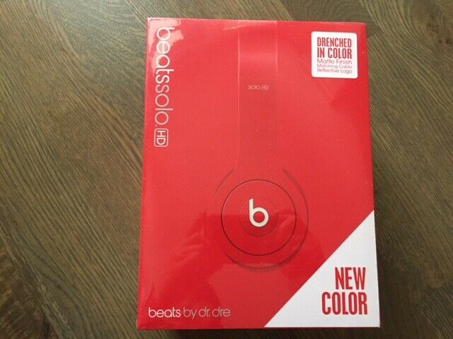 Beats Solo Hd Wired On Ear Headphone Matte Red Brand New For Sale Online