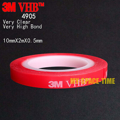 3M VHB #4905 Double-sided Clear Transparent Acrylic Foam Adhesive Tape Long 2M