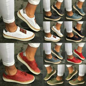 Damen-Flachechuhe-Halbschuhe-Sneaker-Sommerschuhe-Freizeitschuhe-38-39-40-41-42