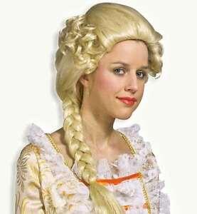 Perucke Isabell Blonder Zopf Blond Prinzessin Hofdame Barock Kostum