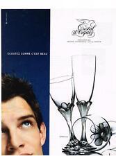 PUBLICITE ADVERTISING 033 1998   CRISTAL D'ARQUES  verres  GRANVILLE      100313