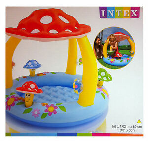 INTEX Baby Kinder Pool Planschbecken Kinderpool mit Pilz Dach ...