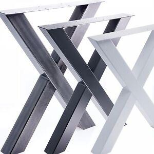 Tischgestell-Tischbein-X-Gestell-Esstisch-Schreibtisch-Tisch-Moebel-Loft-Stahl