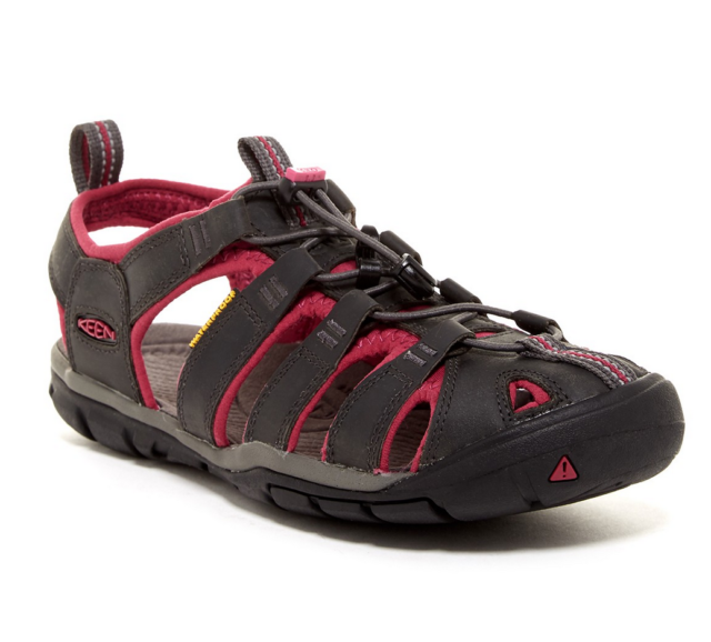 edcb7f5e207 Women's KEEN Clearwater CNX Leather 8.5 M 1014370 Magnet/sangria for ...