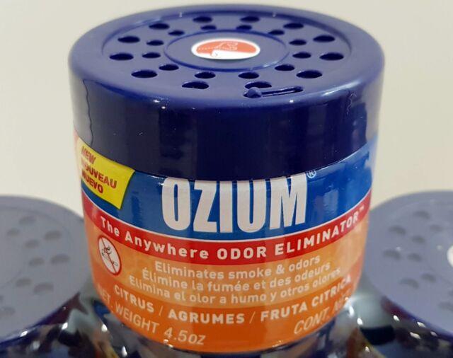 127g Ozium Citrus Smoke & Odors Eliminator Home Office Car Air Freshener GEL