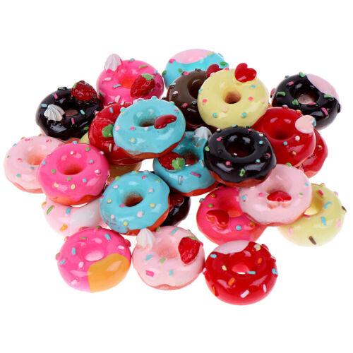 10Pcs 1:12 Dollhouse miniature candy donut bread doll house kitchen decor KO