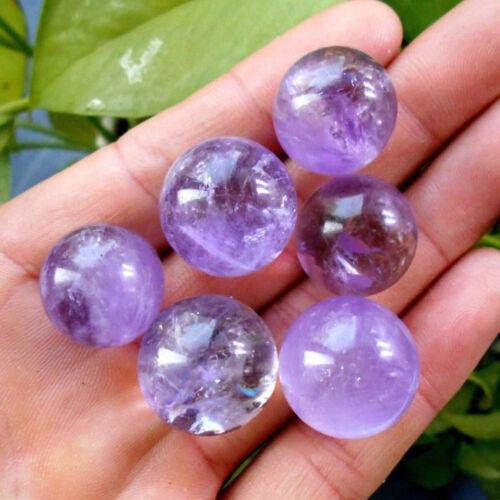 4~5cm Natürliche Amethyst Quarz Stein Kugel Kristall Fluorit Heilung Edelstein