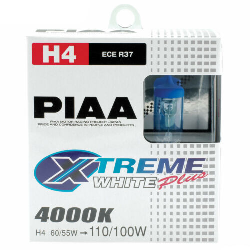 Twin Pack PIAA Xtreme White Plus H4 Car Replacement Headlights Bulbs HE303