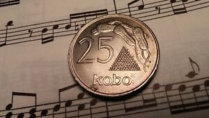 Top Grade Rare! Capable Nigeria 25 Kobo 1975 Km11 Copper-nickel 2-year Type Key Date