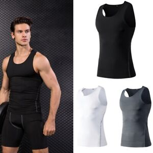 Men-Gym-Sleeveless-Tank-Top-Athletic-Compression-Tights-Fitness-Shirt-Sport-Vest
