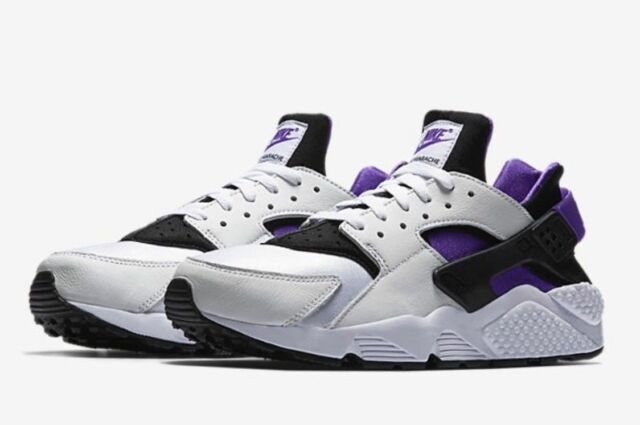 9f85fa4adf1a Nike Air Huarache Run 91  QS Ah8049-001 Black Purple White DS Size 8 ...
