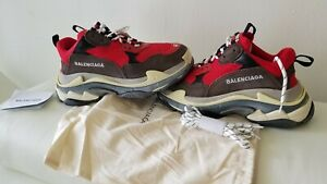 Authentic-Mens-Balenciaga-Triple-S-Red-Sneakers-Shoes-men-sz-40-or-us-7