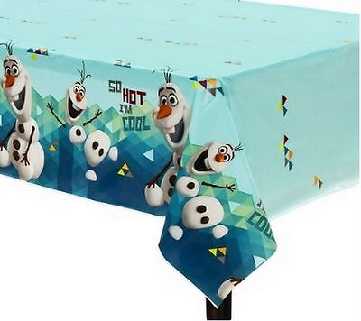 FROZEN Olaf TableCover Plastic Tablecloth 54x96 Birthday Party Supply Decoration