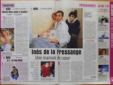INES DE LA FRESSANGE Coupure de presse 1,5 pages 1999 – French Clippings
