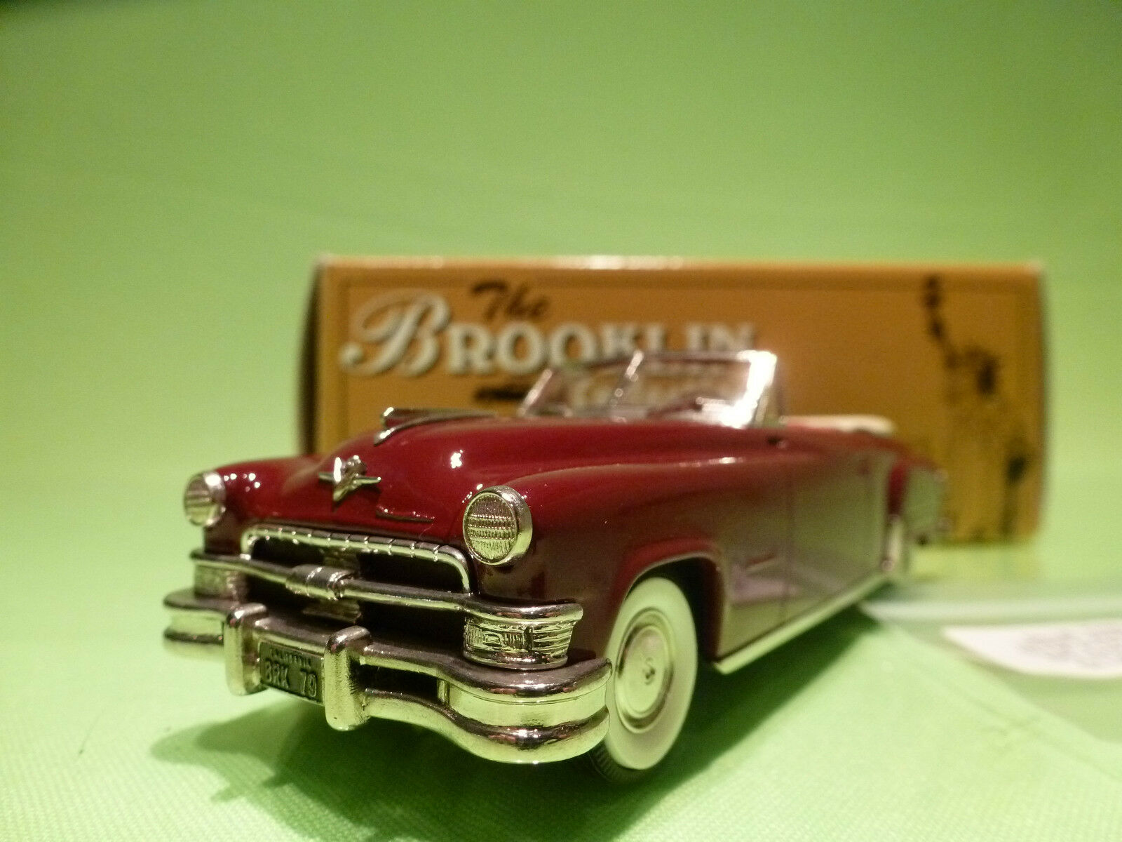 BROOKLIN MODELS BRK 79 CHRYSLER IMPERIAL IMPERIAL IMPERIAL CONgreenIBLE 1951 - MAROON - 1 43 - NMIB b32494
