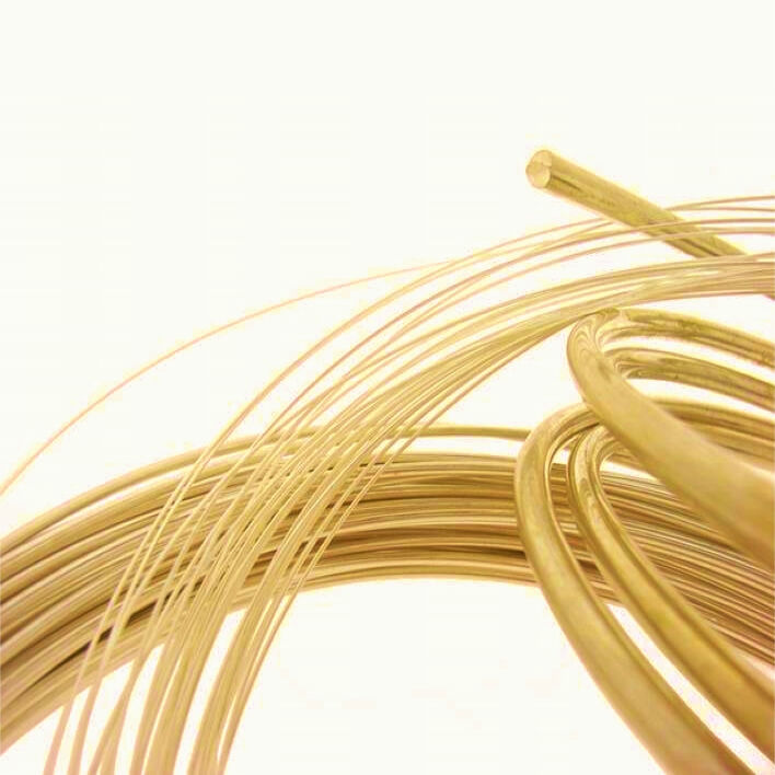 JEWELLERY MAKING ROUND 9ct YELLOW GOLD WIRE 2.0mm Diameter in multiples of 10mm
