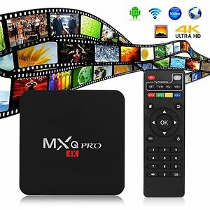 MXQ Pro Smart TV Box 4K Ultra HD S905 64Bit 2.0GHz Quad Core Android 5.1 1G+8G